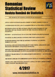 Romanian Statistical Review 4/2017